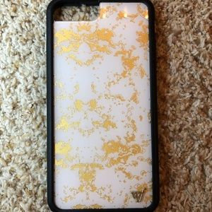 Limited edition gold dust wildflower phone case